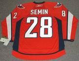 ALEXANDER SEMIN Washington Capitals REEBOK Home NHL Hockey Jersey