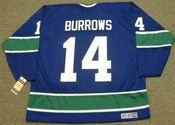 ALEXANDRE BURROWS Vancouver Canucks 1970's CCM Vintage Throwback Hockey Jersey