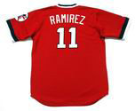 JOSE RAMIREZ Cleveland Indians 1970's Majestic Throwback Red Jersey