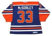 MARTY McSORLEY Edmonton Oilers 1987 CCM Vintage Away NHL Hockey Jersey