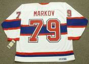 ANDREI MARKOV Montreal Canadiens 1946 CCM Vintage Throwback NHL Hockey Jersey