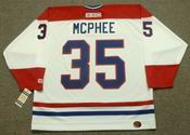 MIKE MCPHEE Montreal Canadiens 1986 CCM Throwback Home NHL Jersey