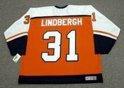 PELLE LINDBERGH Philadelphia Flyers 1985 CCM Throwback Away NHL Hockey Jersey