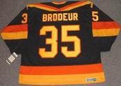 RICHARD BRODEUR Vancouver Canucks 1986 CCM Vintage Throwback NHL Hockey Jersey