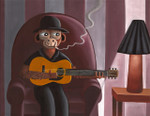 Smokin Guitarist