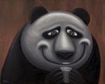 """Happy Panda"" Original Oil Painting"