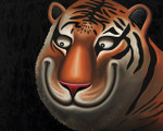 """Happy Tiger"" Original Oil Painting"