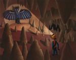 """Bat Cave"" Original Oil Painting"