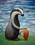"""Badger Football"" Original Oil Painting"