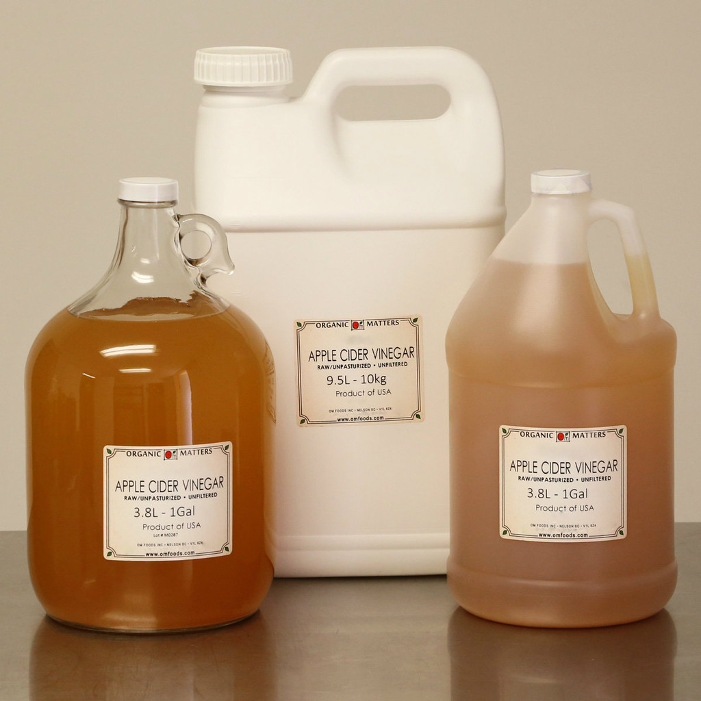 ORGANIC VINEGAR, Apple Cider, unpasteurized, raw
