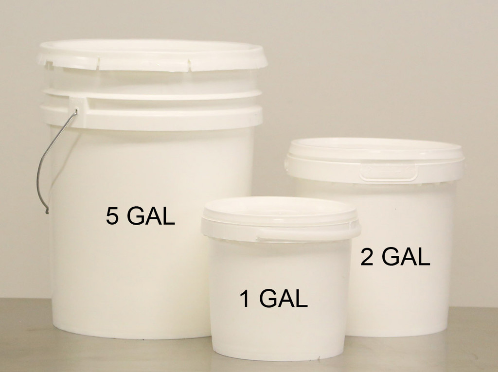 5 GAL FOOD CONTAINER, white, food grade plastic, used
