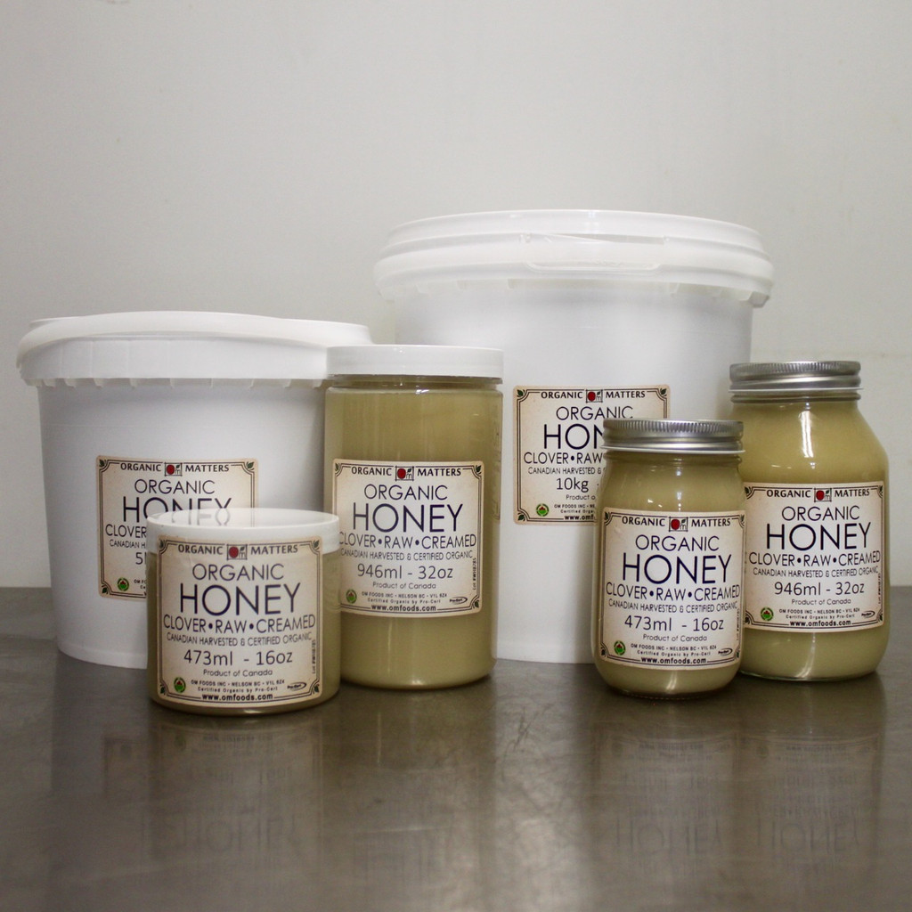 ORGANIC CREAMED HONEY, Canadian, Clover, raw