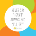36x36 Never Say Wall Art – FATHEAD