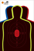 "Practice your shooting skills with this 12"" x 18"" 3 silhouette hostage target that splatters upon bullet impact."