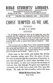Christ Tempted as We Are (Pack of 10) / White, Ellen G