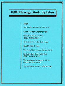 1888 Message Study Syllabus / 1888 Message Study Committee