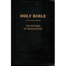 History of Redemption KJV Bible - Large Leather w/ Zipper, Black