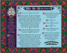 Ten Commandments Postcard / Orion Publishing