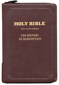 History of Redemption KJV Bible - Large Leather w/ Zipper, Burgundy