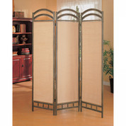 Screen Divider In Antique Gold Finish