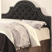 The Ojai Charcoal Tufted Headboard