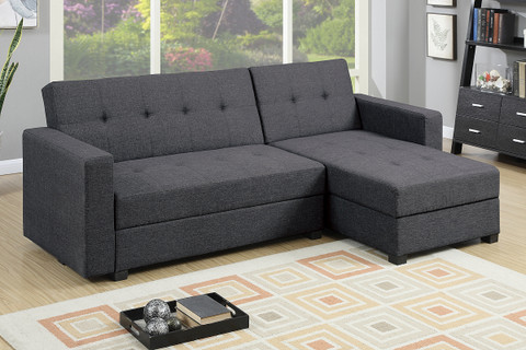 The Storage Sleeper Blue Grey Sofa Chaise Miami Direct Furniture