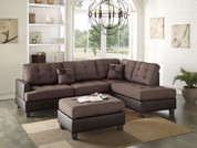 The Cornnel Chocolate 3pc Sectional