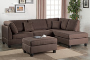 The Chocolate Grey 3pc Sectional