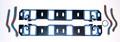 """Gasket Set, Intake for 390, 406, 427LR, 428 CJ/SCJ, '63-70, 1.4"""" x 2.34"""" port size"""