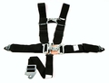 "5 Point Race Harness, Grand National style, wrap around 48"" individual shoulder, single sub belt, snap-in lap and sub belts"