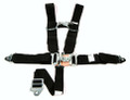 "Pictured:  5 Point Race Harness, Grand National style, wrap around 48"" individual shoulder, single sub belt, snap-in lap and sub belts (Part # 317-29073)."