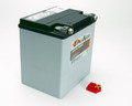 Pictured: Battery, ''Deka'' dry cell, Non-Spillable Race battery, 365 cold cranking amps, 21.7 lbs, 6.625 L x 5.1875 W x 6.875 H (Part #  BAT-ETX30L).