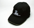 Hat, cotton-twill sandwich bill with snake logo and Cobra Automotive name, black