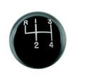 Hurst Black classic shift ball 4 sp 3/8''-16