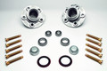 Complete Billet Steel Racing Hub Kit with bearings and studs pressed in