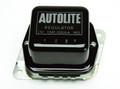 Pictured:  Voltage Regulator, black/silver with Autolite C5AF, 1965-67, 65 amp (Part # 103164).