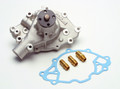 Pictured:  Edelbrock Pump, later 289-351W, closed back (Part # 215-8841).