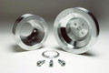 Pictured:  Set, 20% underdrive, 2 groove, 289 (3 bolt crank pulley, RH pump) (Part # 100-1561/1932).