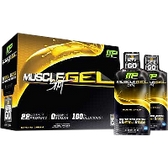 MusclePharm-MuscleGel-Shots-12-ct-Banana-Cream | Muscleintensity.com
