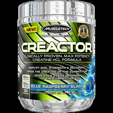 MuscleTech Performance Series Creactor Blue Raspberry 120sv | Muscleintensity.com