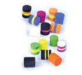 Rainy's Bass Popper Foam Cylinders - Solid and Multi-Colored - 10/pack