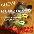 Roadkill Blockhead Poppers - 12/pack - 4 Colors - 3 Sizes