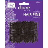 "Diane 1 3/4"" Hair Pins with Ball Tips 100 Pack D465 Black"