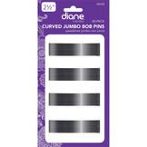 "Diane 2 1/2"" Curved Jumbo Bob Pins 40 Pack D428 Black"