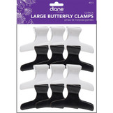 "Diane 3 1/4"" Large Butterfly Clamps 12 Pack D13"