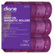 "Diane Snap On Magnetic Rollers D4723 1 3/4"" Purple 6 Pack"