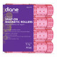 "Diane Snap On Magnetic Rollers D4719 1 1/8"" Pink 8 Pack"