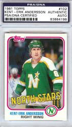 Kent-Erik Andersson Autographed 1981 Topps Card #102 Minnesota North Stars PSA/DNA #83884198
