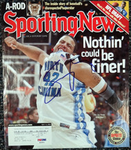 Antoine Walker Autographed Sporting News Magazine Cover Boston Celtics PSA/DNA #S64962