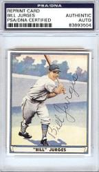 Bill Jurges Autographed Playball Reprint Card #59 New York Giants PSA/DNA #83893504
